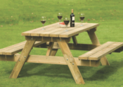aframe-picnic-table