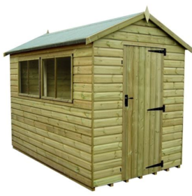 10×8 Tanalised Apex Shed