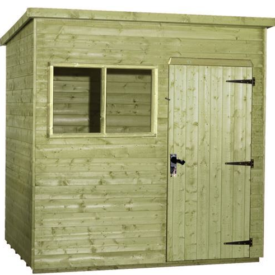 6×4 Tanalised Pent Shed